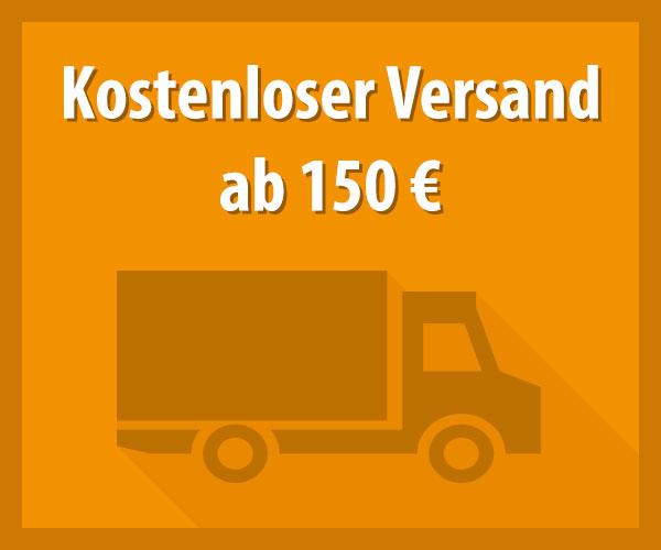Kostenloser Versand ab 150 €