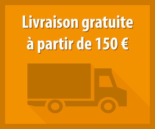 Livraison gratuite à partir de 150 €
