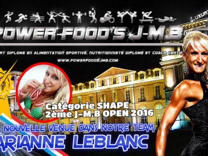 Nouvelle athlète – Marianne Leblanc