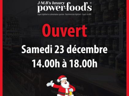 Ouvert, 23.12.2017 – 14h à 18h