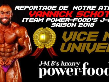 Reportage de notre athlète Yannick Schott (Team Power-Food's J-M.B®), saison 2018