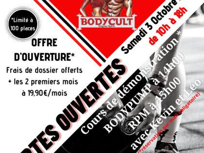 Ouverture de la nouvelle salle sportive Bodycult – 03.10.20